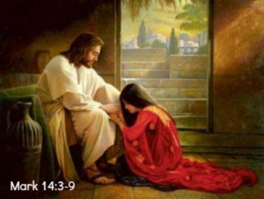 Matthew 14, Mary Magdalen, washing jesus feet