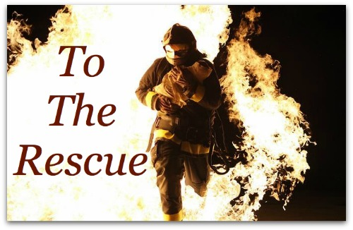 fireman rescue burning building courage