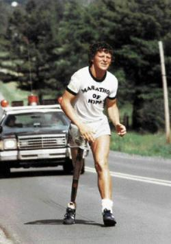 terry fox, running to fight cancer, marathon of hope