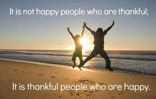 thankfulness quote, gratitude quote, happy people