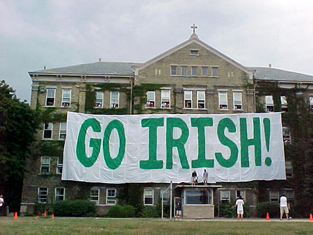 go irish, Notre dame, Carroll hall