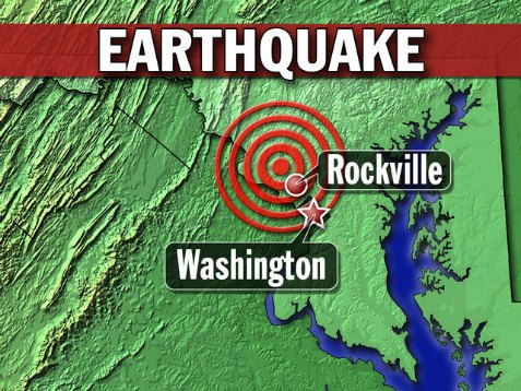 washington DC earthquake