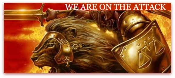 on the attack, we are, quote, lion, into battle