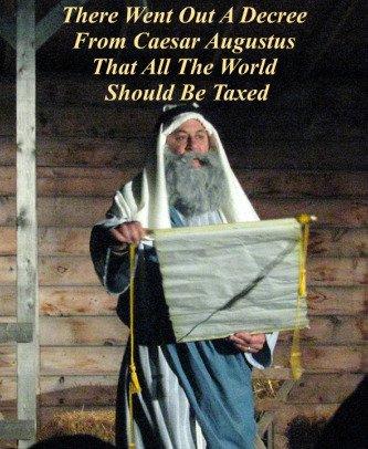 tax quote, caesar, bethlehem, nativity