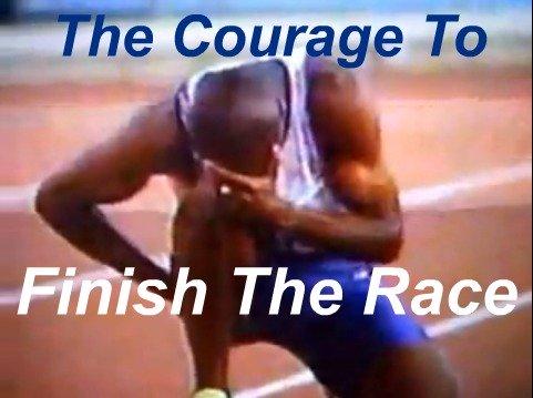 Derek Redmond, Courage, Overcoming