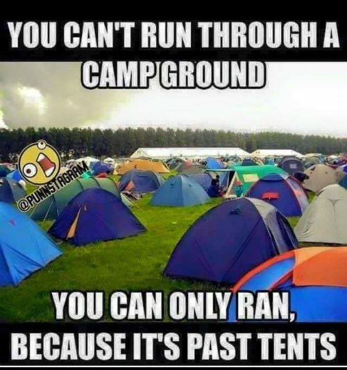 funny camping picture, grammar, funny christian picture