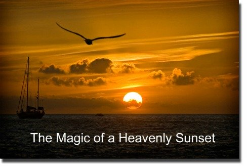 Heavenly Sunset, Magic, Heaven, Life after Death
