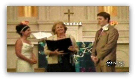JK Wedding, ABC news, jill kevin wedding