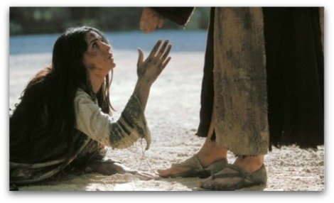 Jesus and Mary magdalen,