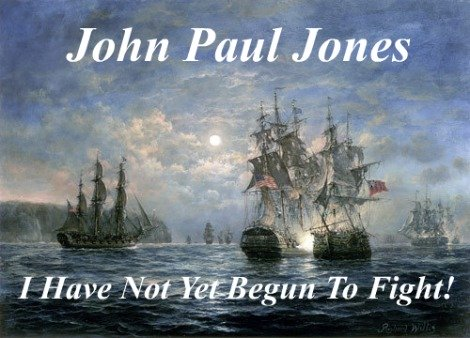 John Paul Jones, not yet begun to fight