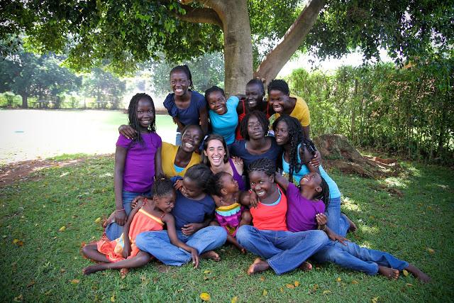 katie davis with her adopted children, 2013, recent picture
