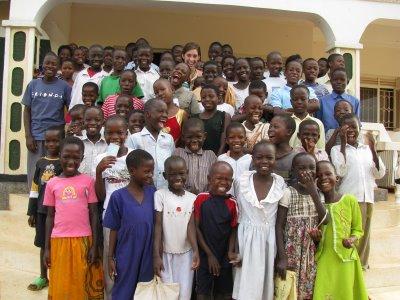 katie davis and the children she is helping, amazima, uganda africa