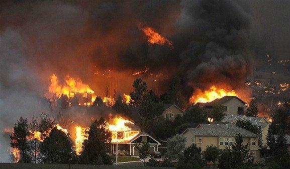 fire, houses burning, devastating fire, subdivision burned