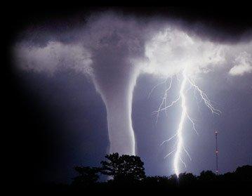 tornado, lightning, storm, nighttime, Moore Oklahoma