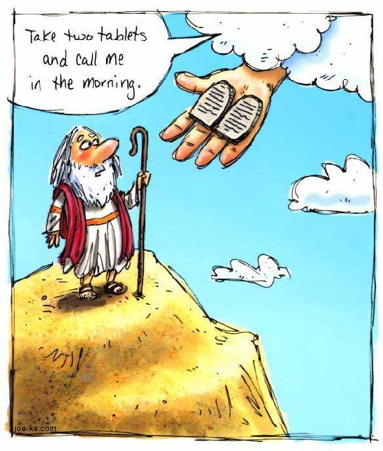 funny moses, ten commandments, funny bible picture, funny christian cartoon, quote