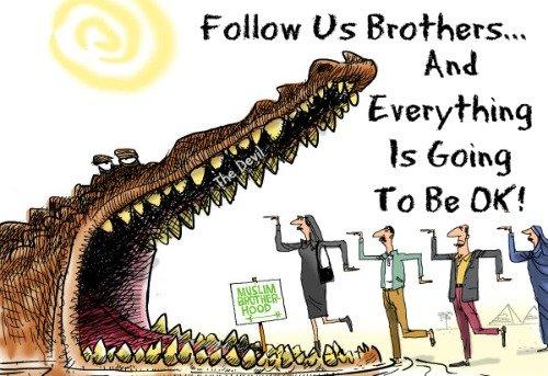 Muslim Brotherhood, cartoon, quote deceived