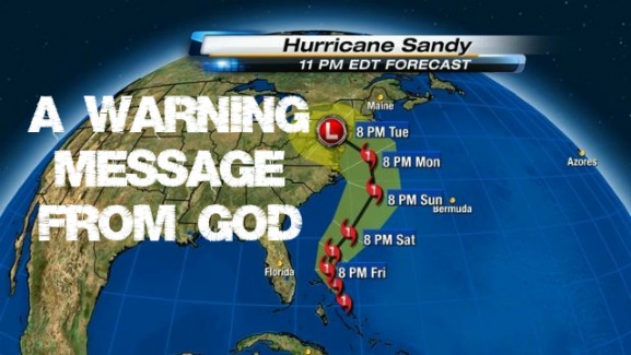 warning from god, hurricane sandy