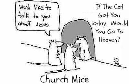 funny church, church mice
