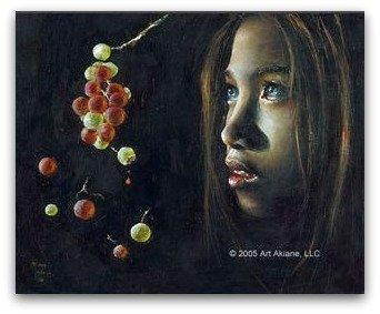 akiane, Forbidden Fruit, christian art, child prodigy