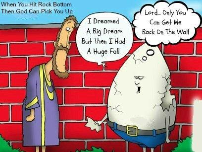 christian quotes, john olsteen, jesus cartoon, Humpty dumpty