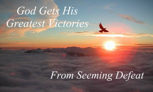 God's greatest victory come from seeming defeat, quote, sunrise, eagle flying