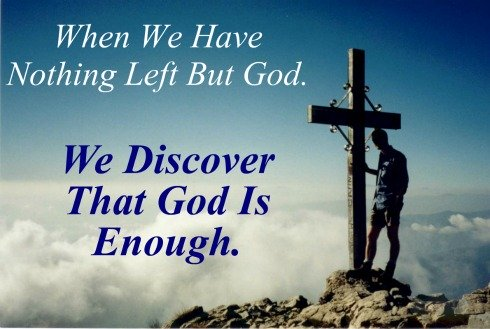 when we have nothing left but god, quote