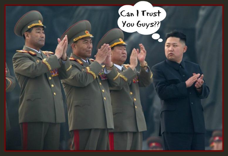 Kim Jong Un, Worried, paranoid