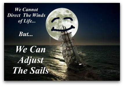 positive quote, sailing quote, making adjustments quote
