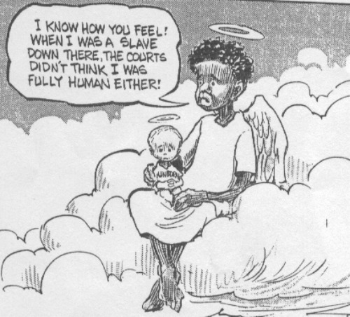 Oppressed Minority, cartoon, abortion Quote, baby in heaven
