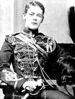 young winston churchill, Military Collage
