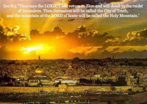 Jerusalem,  Zacarías 8:3