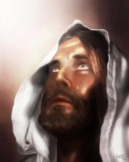 Jesus Wept, jesus looking up, garden of gethsemane