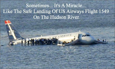 miracle on the hudson, God Showing His Love