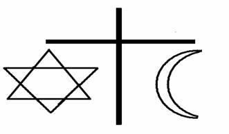 symbols of judism, christianity and islam
