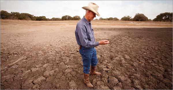 sad farmer, drought