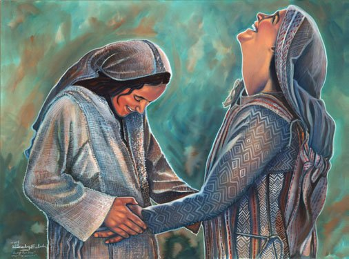 mary and elizabeth, my soul doth magnify the lord, mary and elizabeth