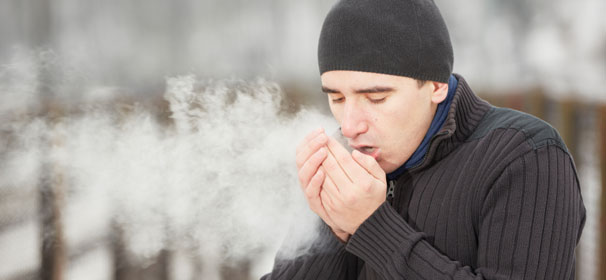 seeing your breath on a cold day, breath vapor, staying warm