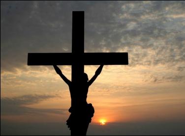jesus on the cross, sunset, crucifixion