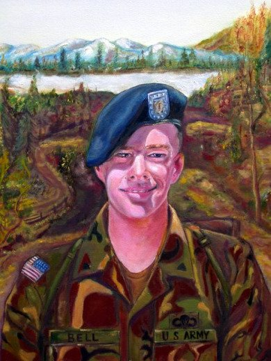Soldier Art, painting of green Berea, christian story
