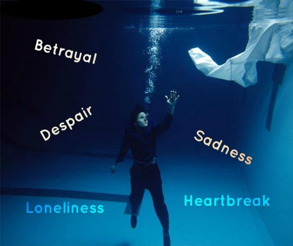 Betrayal, despair, sadness, loneliness, heartbreak