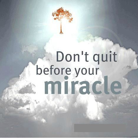 Don't Quit, Never Give Up