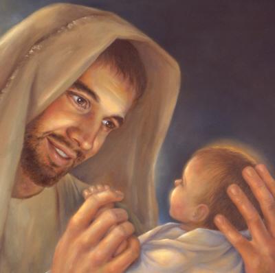 Joseph & baby Jesus, Adoption