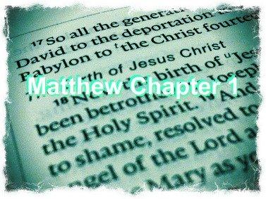 Matthew chapter 1, bible, adoption story