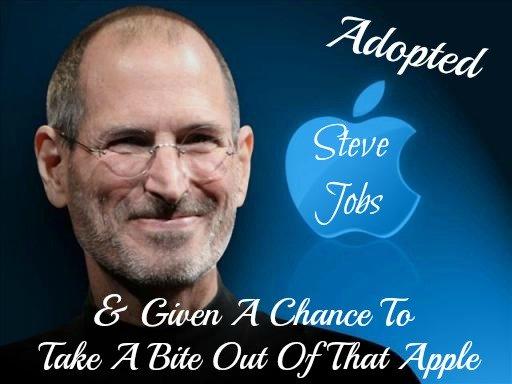 steve jobs, adopted
