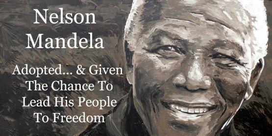 Nelson Mandela, adopted