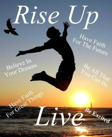 Rise Up Live, new start, new beginning