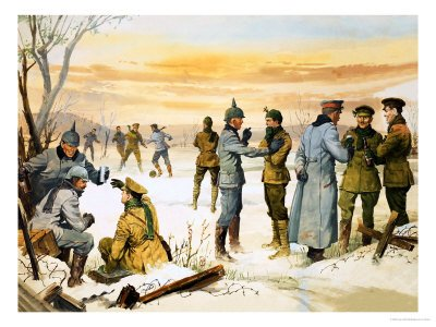 german and british soldiers truce WW1, Christmas miracle