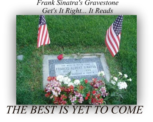 FRANK SINATRA, the best is yet to come