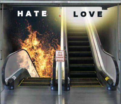 hate vs love,choice, good or evil