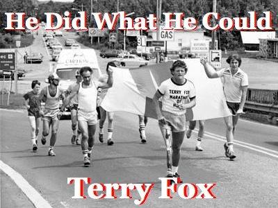 terry fox, marathon, fighting cancer, courage